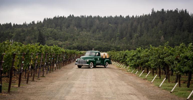 American AgCredit truck in vineyard